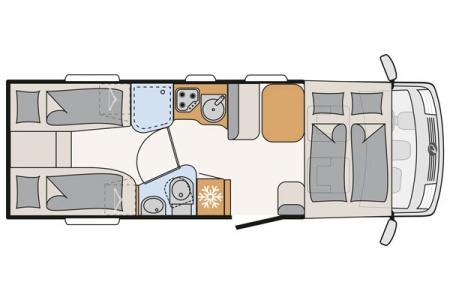 Floor plan - McRent, Comfort Luxury
