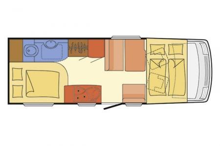 Floor plan - McRent, Premium Standard
