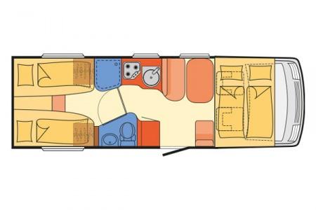 Floor plan - McRent, Compact Standard