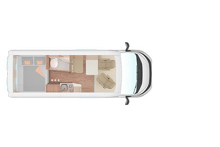 Floor plan - Bunk Campers, Aero 2-Berth Campervan