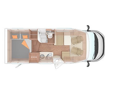 Floor plan - Bunk Campers, Aero Plus 2-Berth Motorhome
