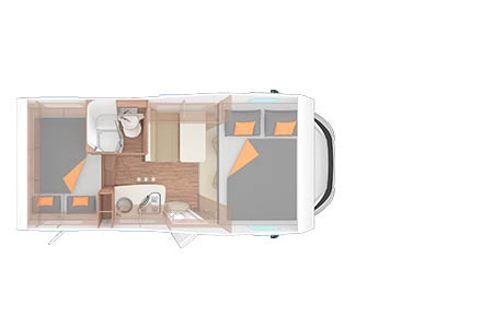 Floor plan - Bunk Campers, Vista-Plus 4-Berth Motorhome