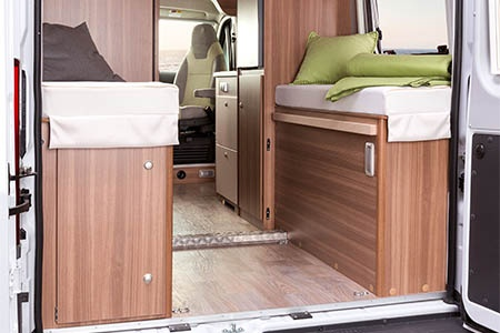 Interior view - Bunk Campers, Vista 4-Berth Campervan