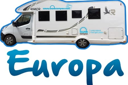 Aussenansicht Bunk Campers Europa 4-Bett Campervan