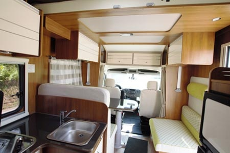 Interior view - Bunk Campers, Europa 4-Berth Motorhome