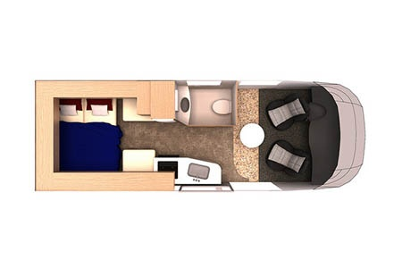 Floor plan - Westcoast Mountain Campers, Deluxe Van Camper DVC