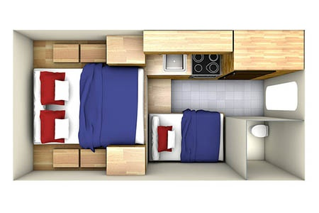 Floor plan - Westcoast Mountain Campers, Maxi Travel Camper TC-A