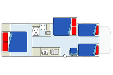 Floor plan - CanaDream, Maxi Motorhome MH-A