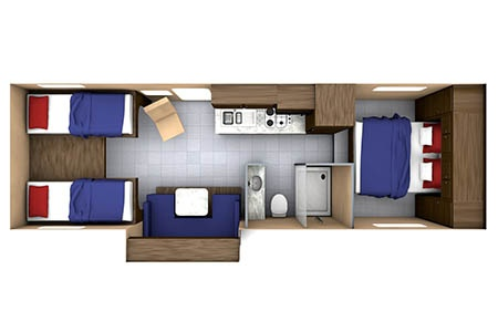 Floor plan - Westcoast Mountain Campers, Maxi Motorhome MH-A