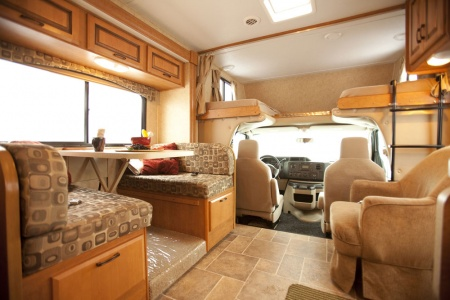 driver's cabin and living area