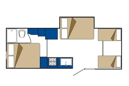 Floor plan - CanaDream, Midi Motorhome MH-B