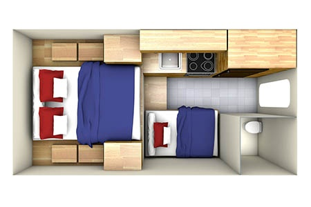Floor plan - CanaDream, Maxi Travel Camper TC-A