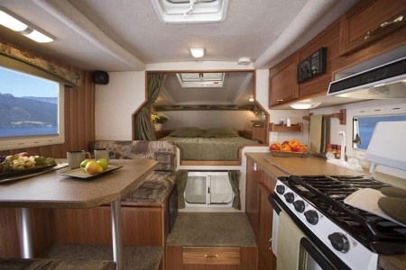 Interior view - Westcoast Mountain Campers, Maxi Travel Camper TC-A