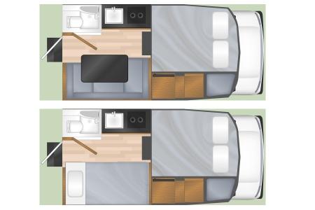 Floor plan - Cruise Canada, T17 Truck Camper