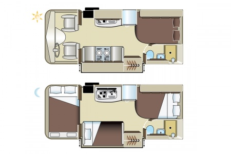 Grundriss Four Seasons RV Rentals C-Large
