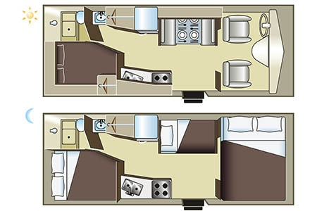 Floor plan - Four Seasons RV Rentals, C-Medium