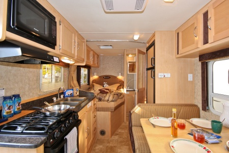 Interior view - Four Seasons RV Rentals, C-Medium