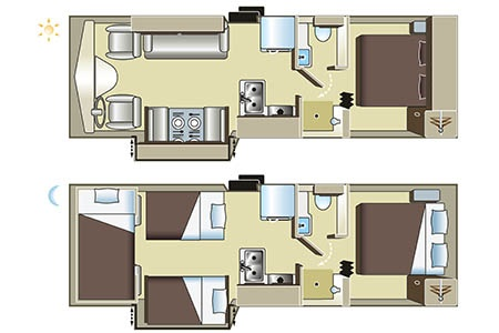 Floor plan - Four Seasons RV Rentals, C-XLarge