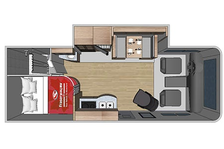 Floor plan - Four Seasons RV Rentals, C-Large