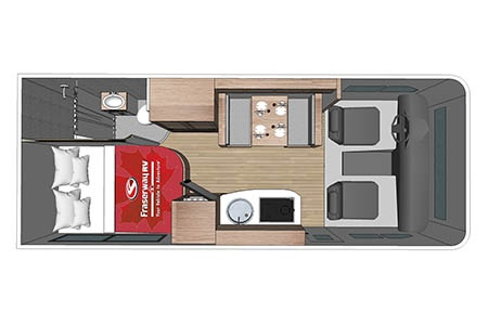 Grundriss Four Seasons RV Rentals C-Medium