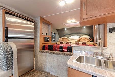 Interior view - Fraserway RV Rentals, Truck & Camper TCS