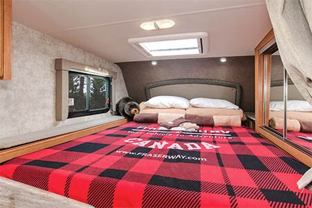 Interior view - Fraserway RV Rentals, Truck & Camper TC