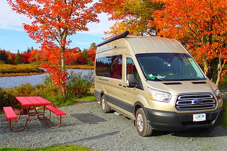 Exterior view - Fraserway RV Rentals, Van Conversion VC