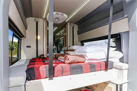 Interior view - Fraserway RV Rentals, Van Conversion VC
