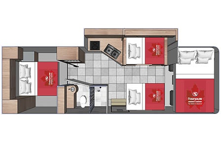 Floor plan - Fraserway RV Rentals, C-XLarge