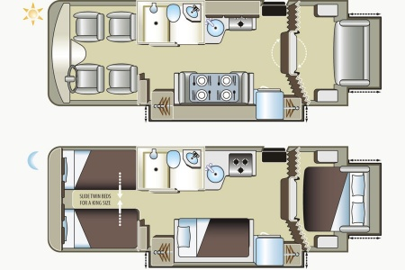Floor plan - Four Seasons RV Rentals, Adventurer 4