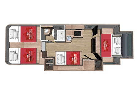 Floor plan - Fraserway RV Rentals, Adventurer 4