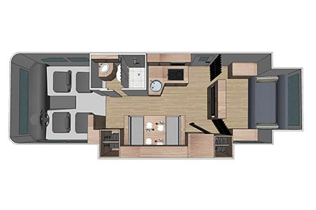 Floor plan - Fraserway RV Rentals, Adventurer 4 2019