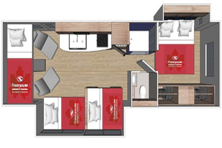 Floor plan - Fraserway RV Rentals, A-Luxury