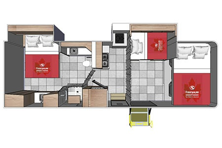Floor plan - Fraserway RV Rentals, A-Luxury W