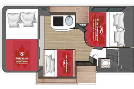 Floor plan - Fraserway RV Rentals, C-Large