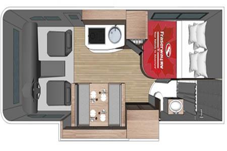Grundriss Fraserway RV Rentals C-Large