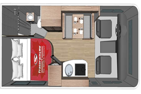 Floor plan - Fraserway RV Rentals, C-Medium