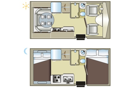Floor plan - Fraserway RV Rentals, C-Small