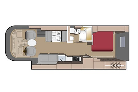 Floor plan - Fraserway RV Rentals, A-30 Motorhome