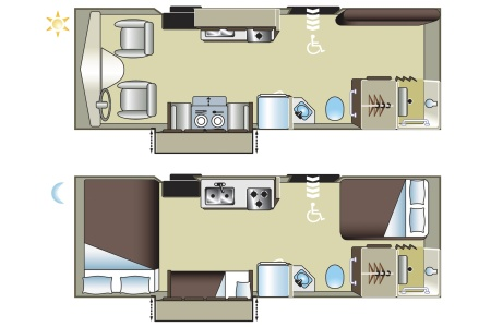 Floor plan - Fraserway RV Rentals, MH27SW