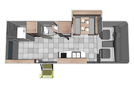 Floor plan - Fraserway RV Rentals, MH27SW 2019