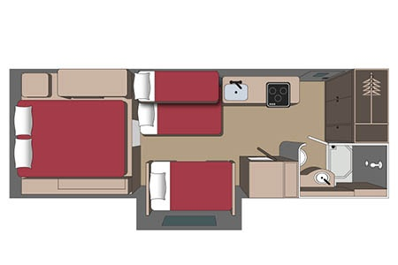 Floor plan - Fraserway RV Rentals, Overlander