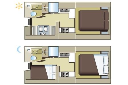 Grundriss Fraserway RV Rentals Truck & Camper TC