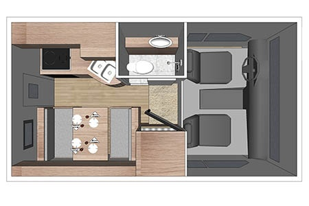 Floor plan - Fraserway RV Rentals, Truck & Camper TC