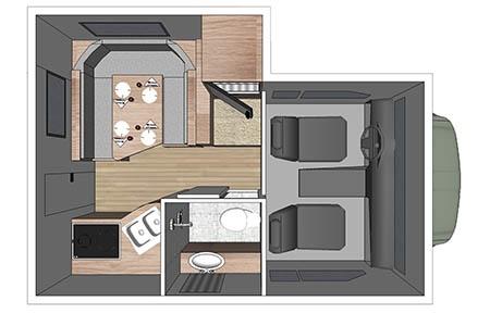 Grundriss Fraserway RV Rentals Truck & Camper TCB