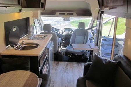 Interior view - Fraserway RV Rentals, Van Conversion VC 2019