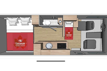 Floor plan - Fraserway RV Rentals, Van Conversion VC 2020