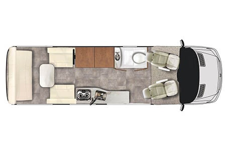 Floor plan - Owasco, Sprinter Van RS22