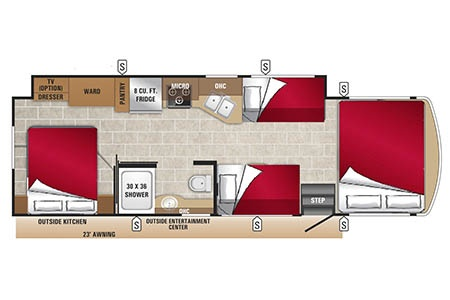 Floor plan - Owasco, A30-32S