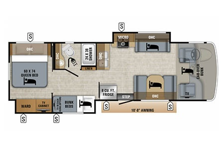 Floor plan - Owasco, C28-30S
